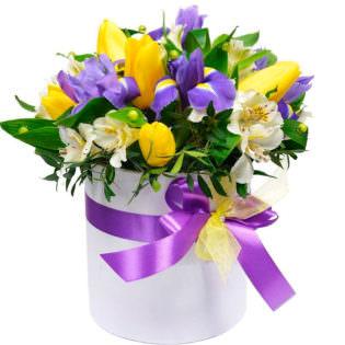 Цветы в коробке «Офелия»